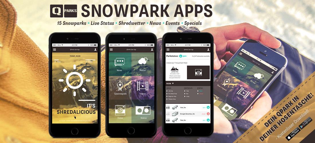 Dein Snowpark Alta Badia in deiner Tasche – Die neue Snowpark App für Snowboarder und Freeskier