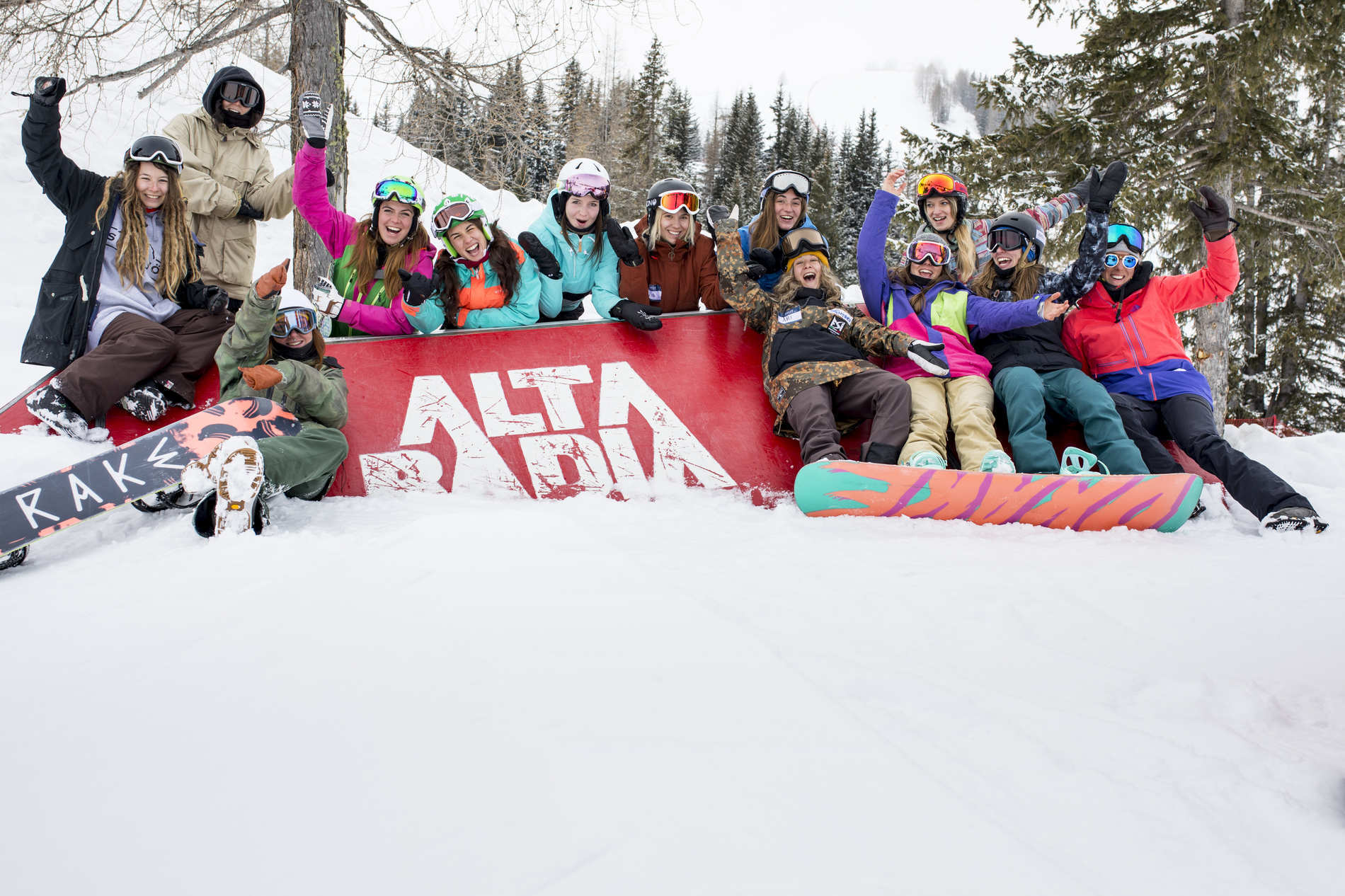 Girls Shred Session allo Snowpark Alta Badia - 2/3/2019