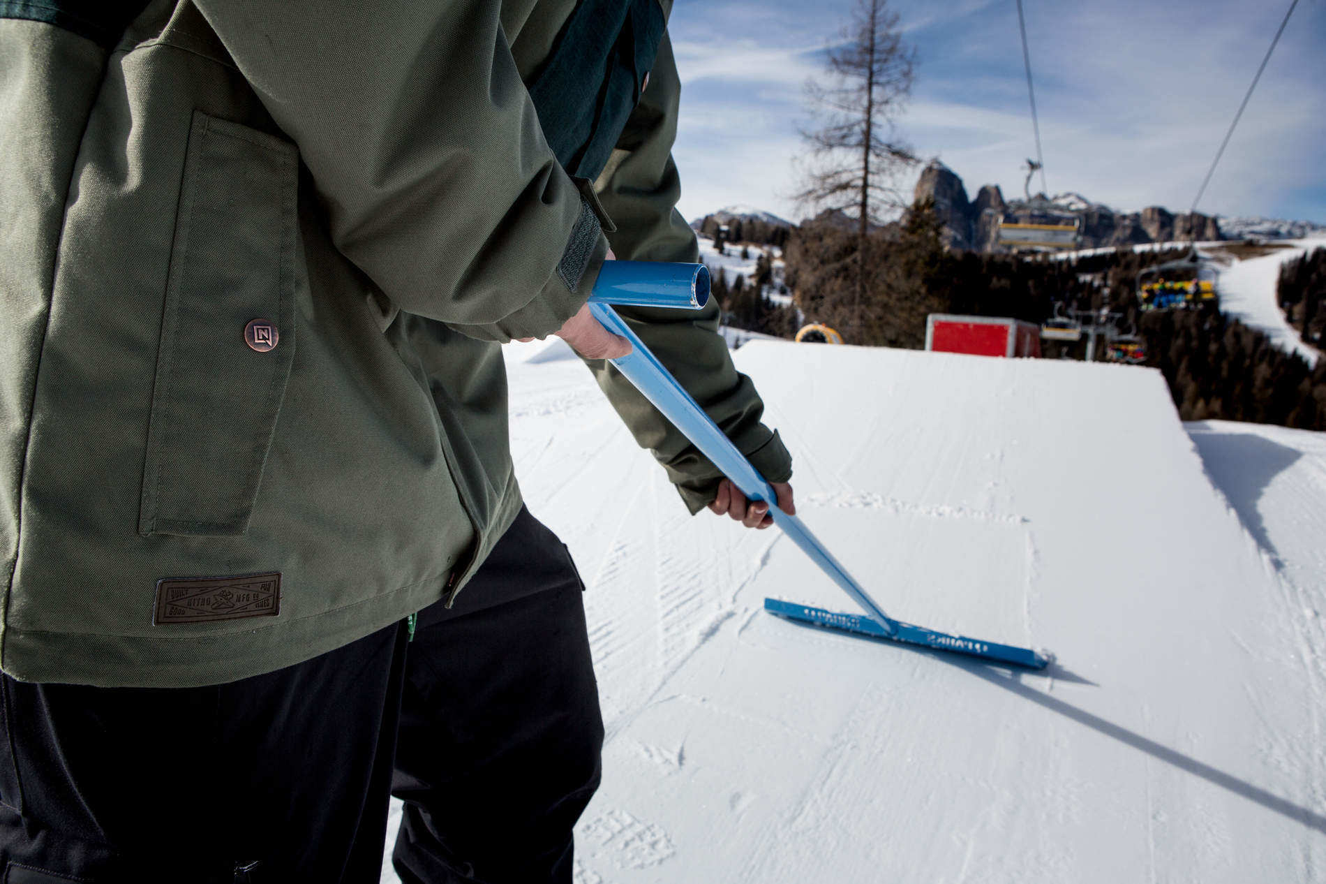 Christmas presents from Snowpark Alta Badia: the first setup is ready!