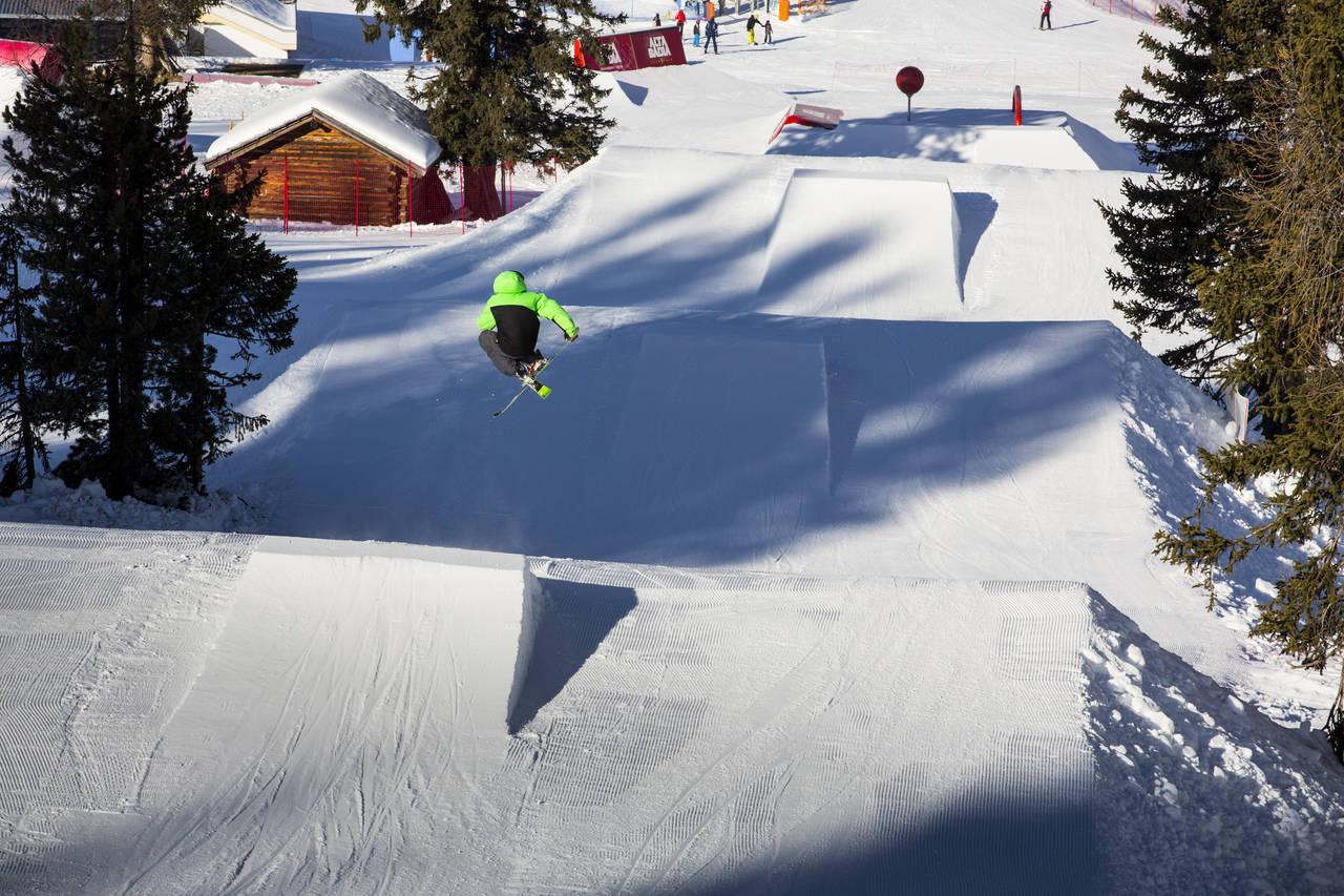 Spin to win at Snowpark Alta Badia – the medium kicker line is ready