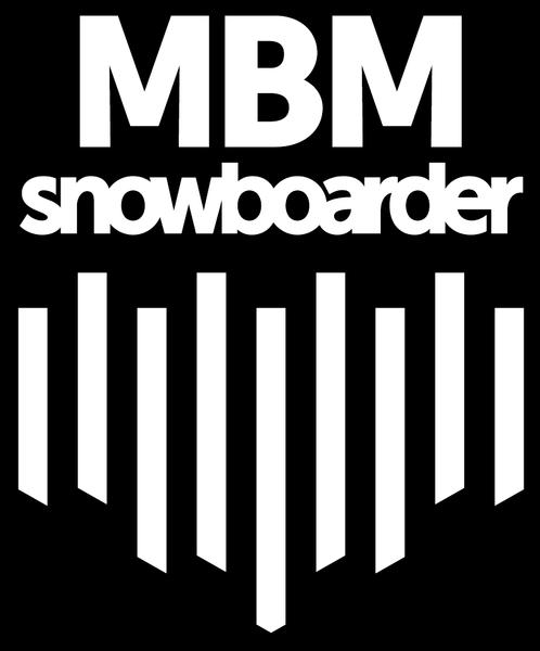 snowboarder MBM white