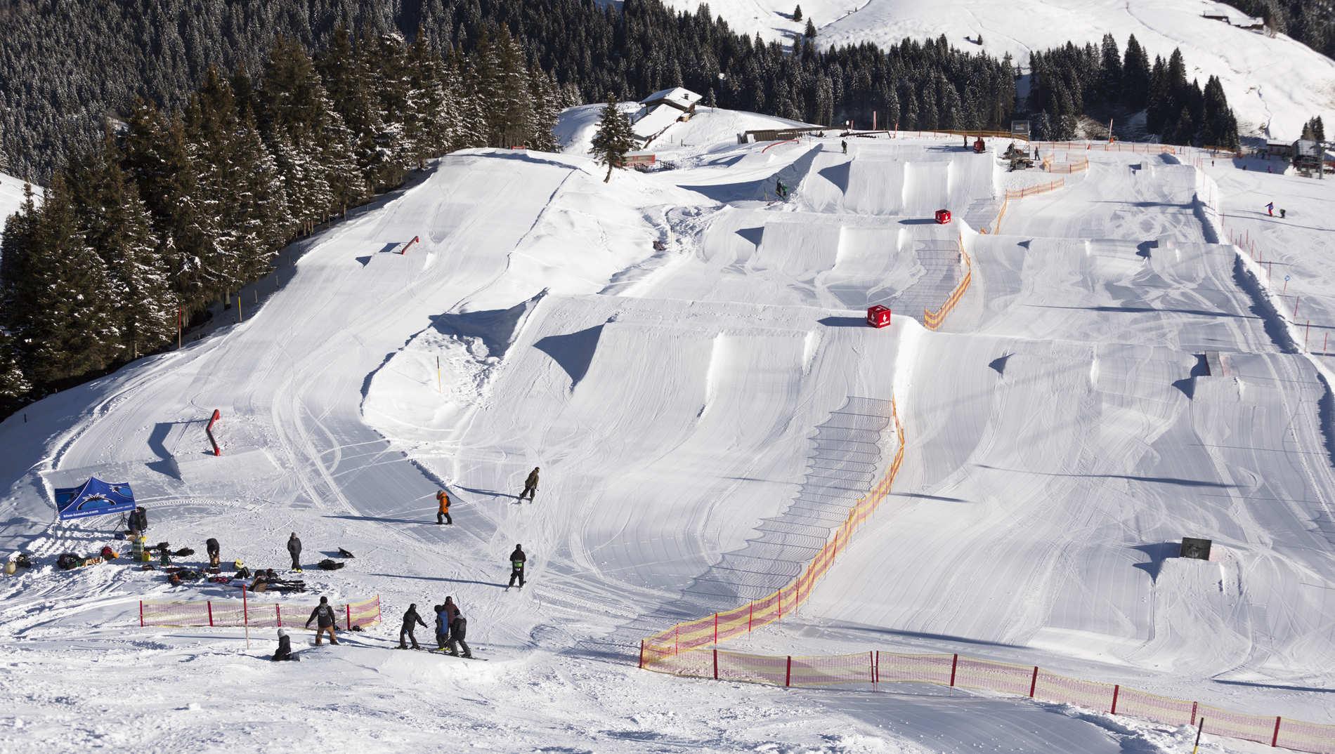 Halbzeit im Snowpark Kitzbühel