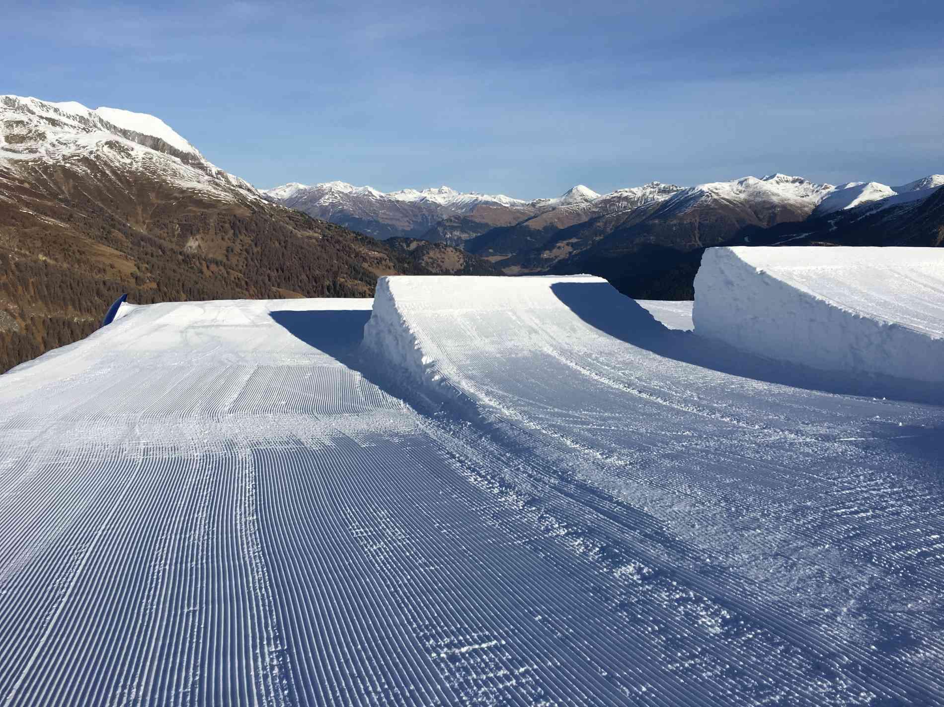 Snowpark Jump Kicker 11m