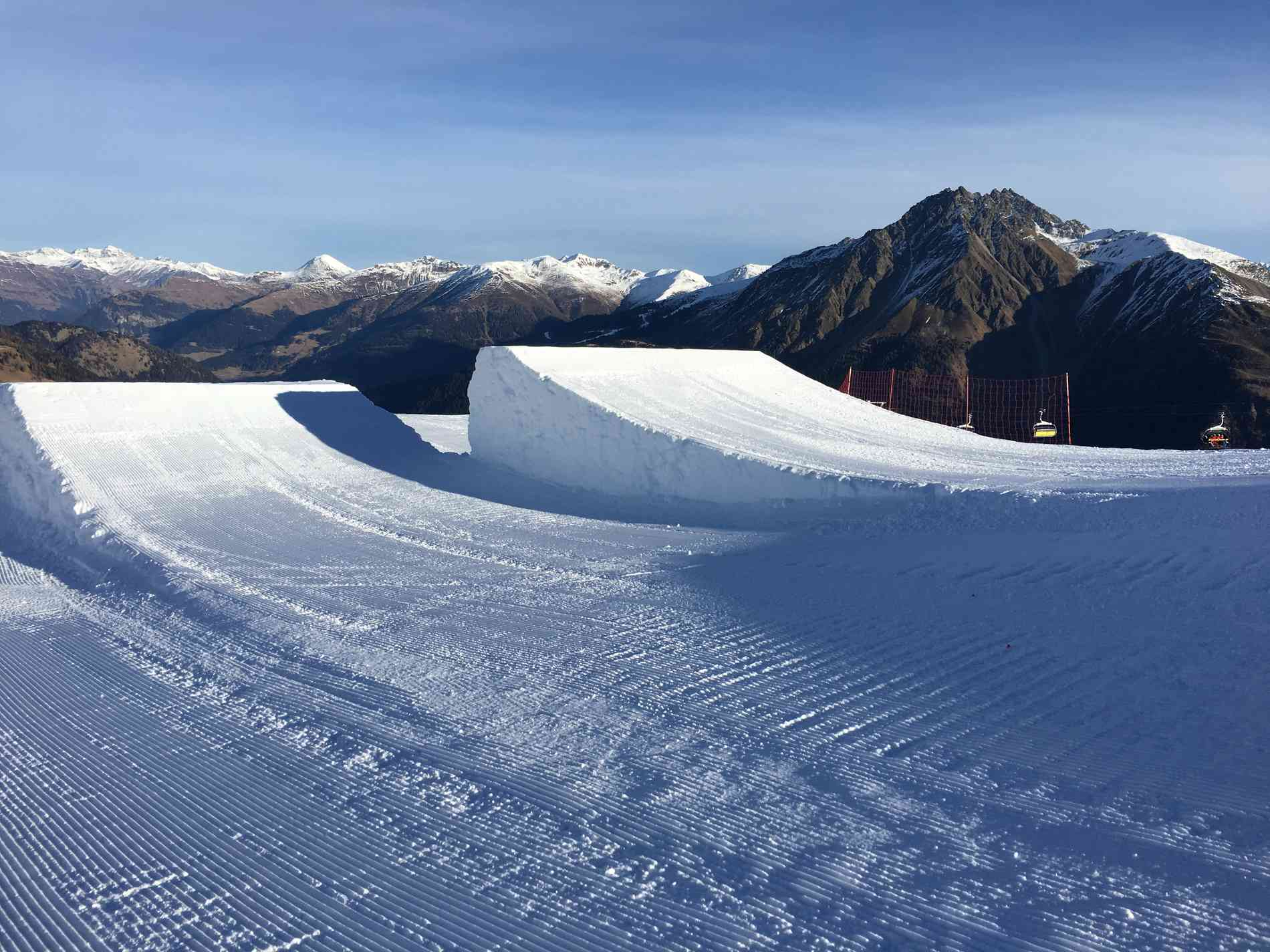 Snowpark Jump Kicker 14m