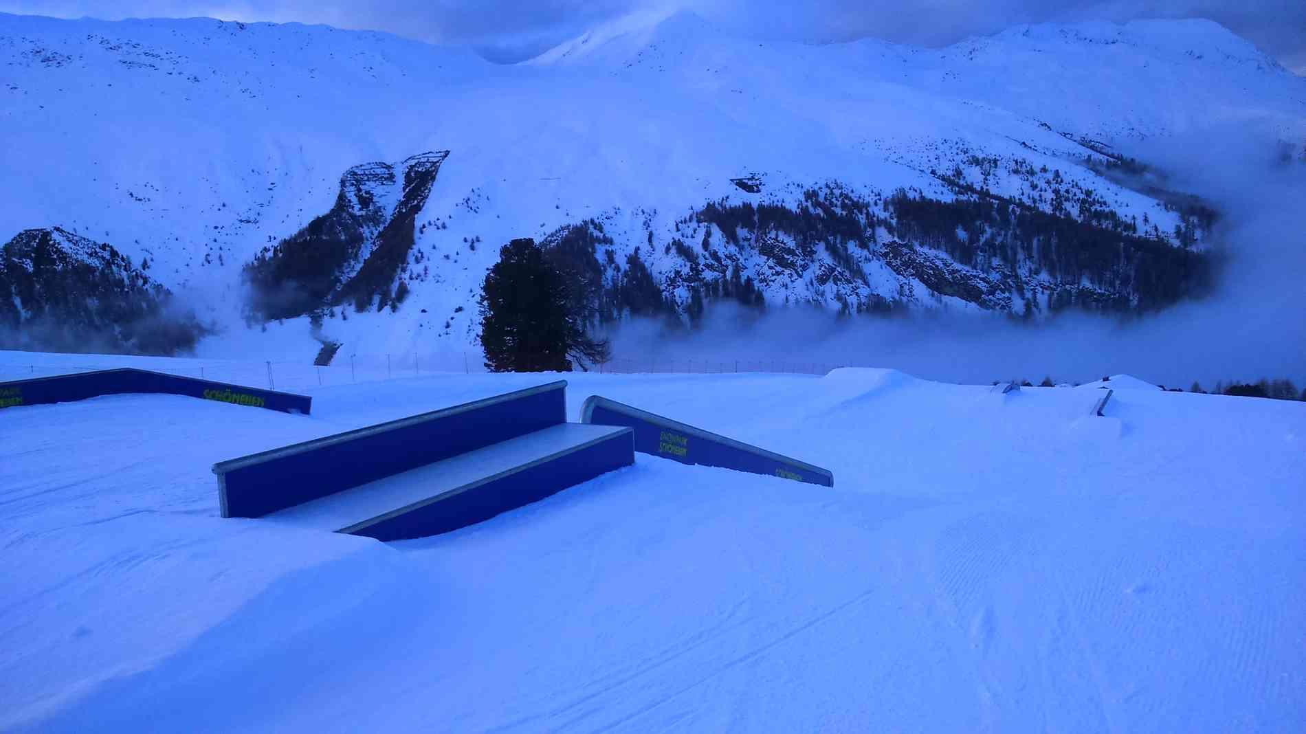 Snowpark Rail Flat/Down 12m